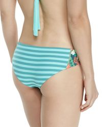 Maaji - Blue Printed Reversible Hipster Swim Bottom - Lyst