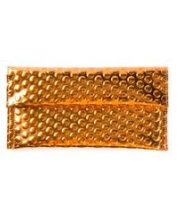 MM6 by Maison Martin Margiela - Metallic Shiny Textured Purse - Lyst