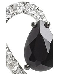AS29 | Metallic White Gold And Onyx Lucy Earrings | Lyst