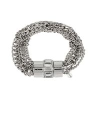 Kenneth Cole | Metallic Baguette Stone Multi-chain Bracelet | Lyst