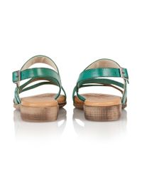 Lotus - Green Palma Open Toe Sandals - Lyst