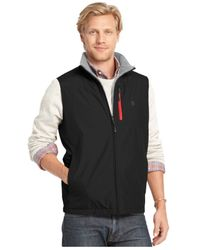 Izod | Black Big And Tall Reversible Full-zip Fleece Vest for Men | Lyst