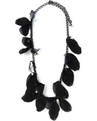 Lanvin | Black Feather Necklace | Lyst