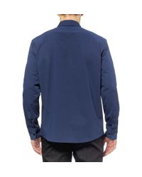 Marni - Blue Zipped Cotton-Blend Shirt for Men - Lyst