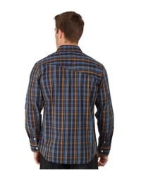 Volcom - Blue Everett Plaid Long Sleeve Woven for Men - Lyst
