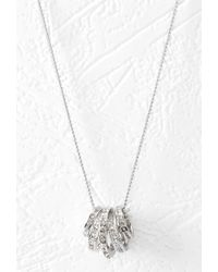 Forever 21 - Metallic Rhinestone Ring Charm Necklace - Lyst