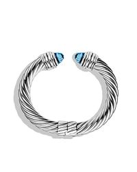 David Yurman - Cable Classics Bracelet With Blue Topaz - Lyst
