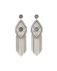 R.j. Graziano | Metallic Antiqued Fringe Chandelier Earrings | Lyst