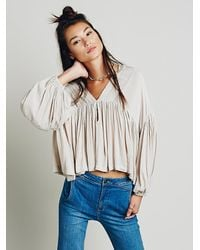 Free People | Natural Daisy Top | Lyst