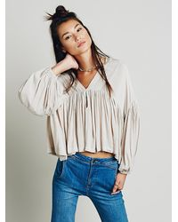 Free People - Natural Daisy Top - Lyst