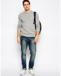 ASOS - Gray Twisted Yarn Sweater for Men - Lyst