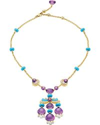 BVLGARI | Sassi Mediterranean Eden 18ct Yellow-gold Necklace | Lyst