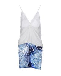 Annarita N. | Blue Short Dress | Lyst