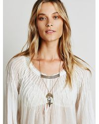Free People - Metallic Womens Sacred Stacked Pendant - Lyst
