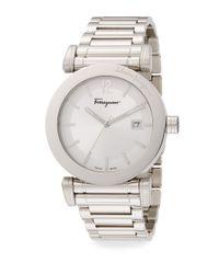 Ferragamo - Metallic Salvatore Gent Stainless Steel Watch for Men - Lyst