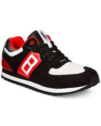 Polo Ralph Lauren | Black Slaton Number Sneakers for Men | Lyst
