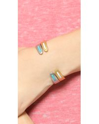 Madewell | Metallic Long Stone Cuff Bracelet - Vintage Gold | Lyst