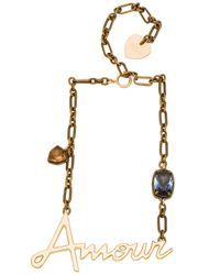Lanvin | Brown Amour Necklace | Lyst