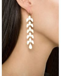 Irene Neuwirth | Metallic Leaf Drop Earrings | Lyst