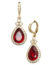 Givenchy - Metallic Pave Drop Earrings - Lyst
