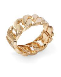 Cara | Metallic Curb Chain Hinge Bracelet | Lyst