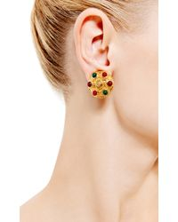 House of Lavande - Red Chanel Gold Clip On Earrings - Lyst