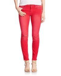 Joe's Jeans | Red Finn Skinny Ankle Jeans | Lyst