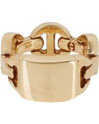Hoorsenbuhs | Metallic Monogram Dame Ring | Lyst