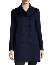 Fleurette | Red Double-breasted Wool Peacoat | Lyst