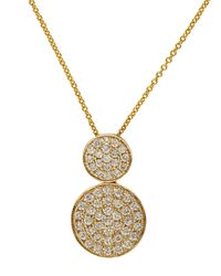 Effy | Metallic Trio 14kt Yellow Gold And Diamond Pendant Necklace | Lyst