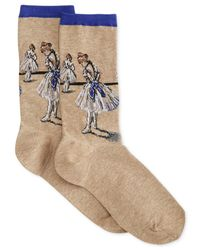 Hot Sox | Natural Women's Degas Ballerina Sock | Lyst