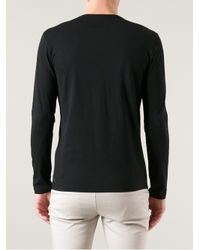 Moncler | Black Crew Neck Shirt for Men | Lyst