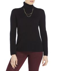 Qi | Black Turtleneck Cashmere Sweater | Lyst