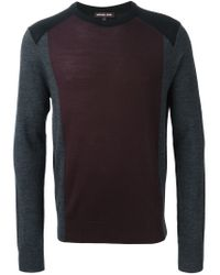 Michael Kors - Red Colour Block Sweater for Men - Lyst