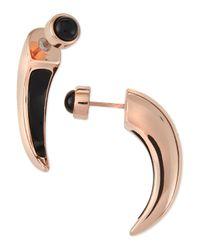 Pamela Love | Black Onyx Inlay Horn Earrings | Lyst