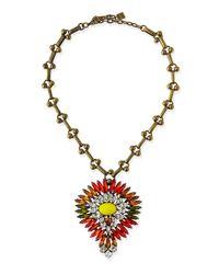 DANNIJO - Multicolor Khaleesi Crystal Necklace - Lyst
