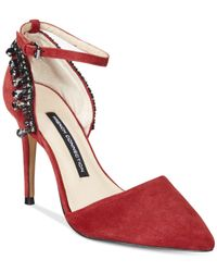 French Connection - Red Eleni Pointed-toe Pumps - Lyst