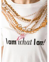 Moschino - White Jewel Print T-Shirt - Lyst
