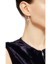 Nina Runsdorf - Metallic Icy Grey Diamond Earrings - Lyst