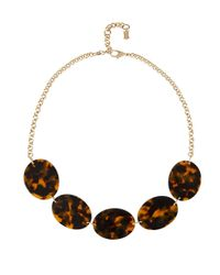 Hobbs - Brown Dana Necklace - Lyst
