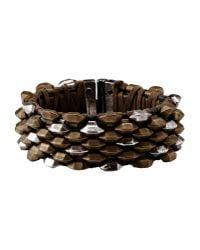 Roberto Cavalli   Metallic Bracelet   Lyst