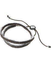 Links of London - Metallic Double Wrap Friendship Bracelet - Gold And Black - Lyst