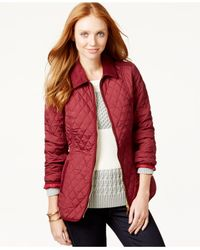 Tommy Hilfiger | Purple Quilted Zippered Jacket | Lyst