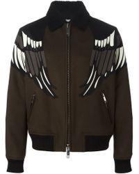 Valentino - Brown Eagle Motif Jacket for Men - Lyst