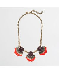 J.Crew | Red Factory Fringed Fan Necklace | Lyst
