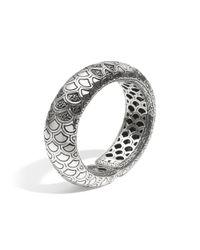 John Hardy | Metallic Naga Cuff With Black Sapphire | Lyst