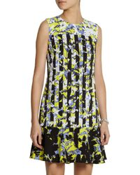 Peter Pilotto - Yellow Printed Crepe Dress - Lyst
