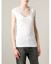 Étoile Isabel Marant - White 'Kenton' T-Shirt - Lyst