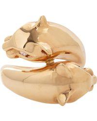 Sidney Garber White Panther Ring