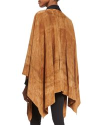 Ralph Lauren Collection - Brown Suede Equestrian Cape - Lyst